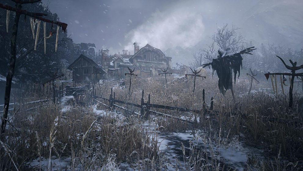 """Ein Teil des schaurigen Dorfs aus """"Resident Evil Village"""""""
