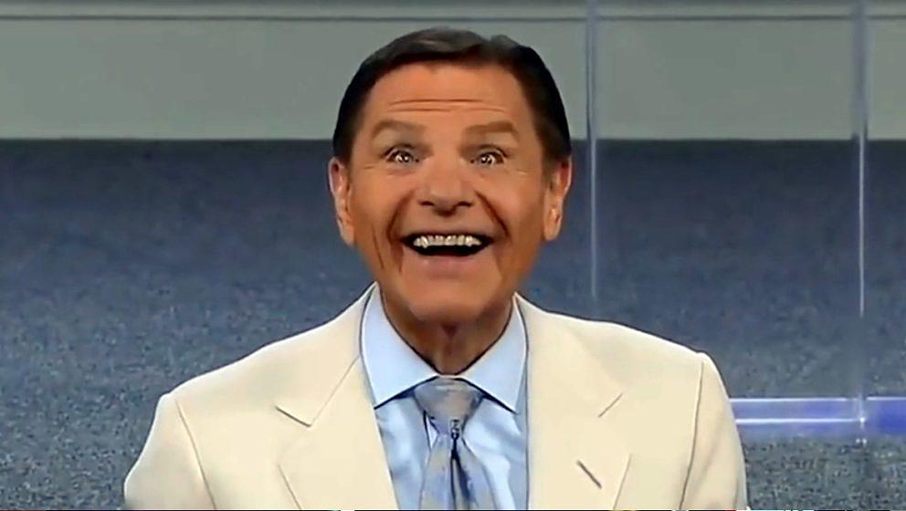 US-Fernseh-Prediger Kenneth Copeland bei seiner Corona-Aushauchung