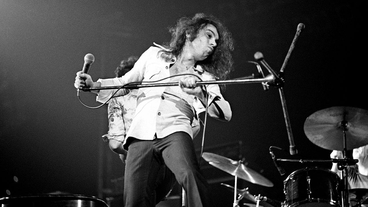 Dio auf der Bühne mit Elf, 1974.