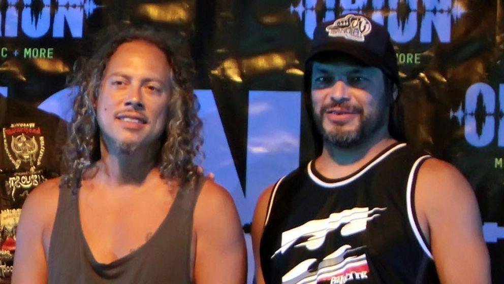 Kirk Hammett (l.) und Rob Trujillo von Metallica