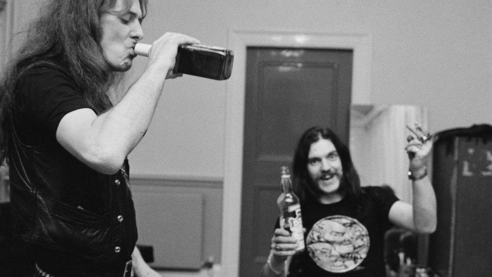 Fast Eddie Clarke mit Lemmy Kilmister, 1982.