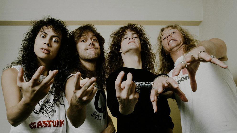 Metallica 1986, fünf Jahre nach der Band-Gründung, in Tokio.