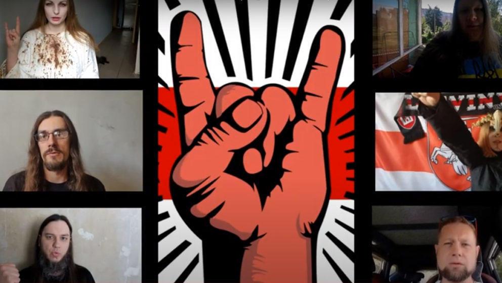 Screenshot aus dem Video: Metal gegen Gewalt in Weißrussland