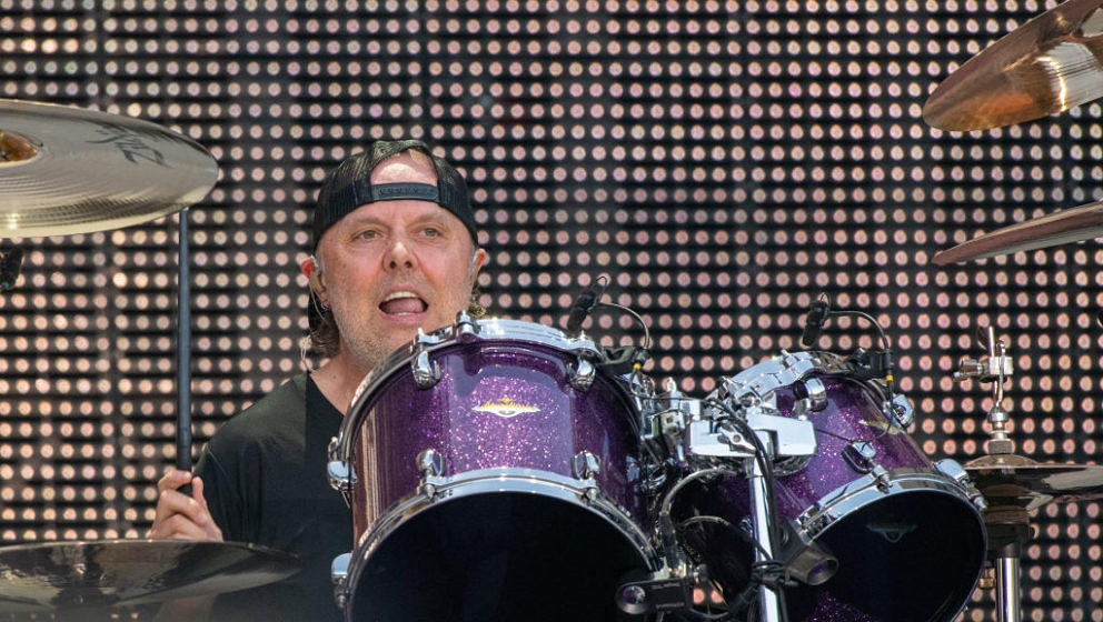 GOTHENBURG, SWEDEN - JULY 09: Lars Ulrich, drummer of the heavy metal band Metallica, performs on July 09, 2019 at Ullevi Sta