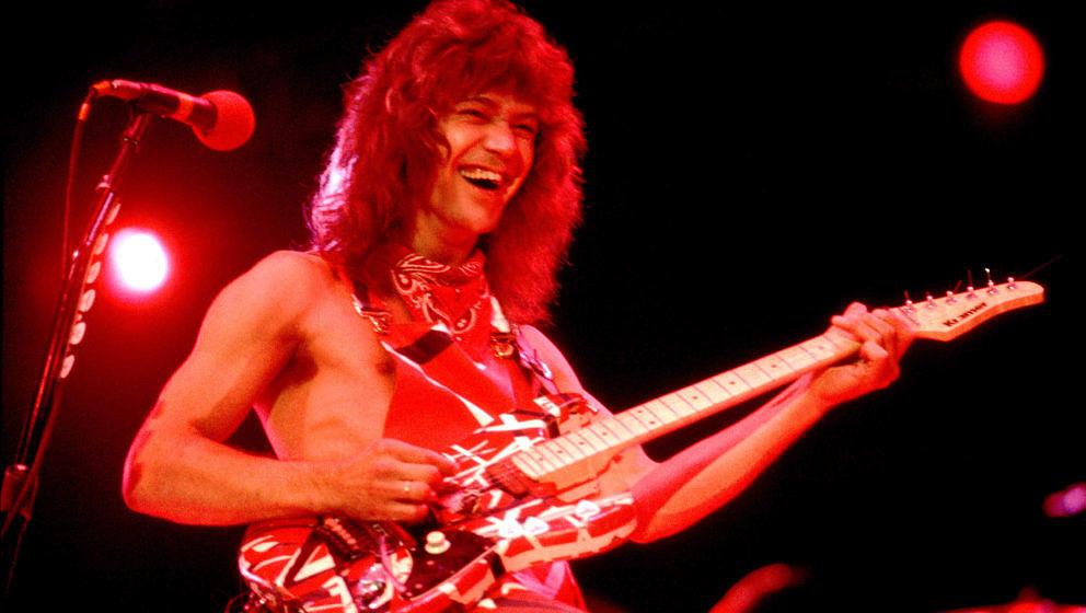 Eddie Van Halen 1983 beim Auftritt auf dem US Festival im kalifornischen Ontario