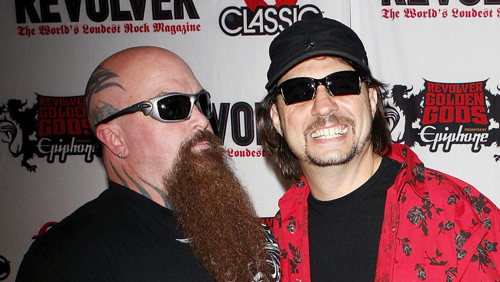 Kerry King und Dave Lombardo von Slayer im April 2010 bei den Revolver Golden Gods Awards in Los Angeles