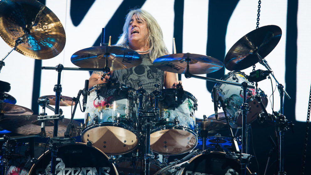 Ex-Motörhead-Drummer Mikkey Dee mit Scorpions in der AccorHotels Arena am 26. Juni 2018 in Paris