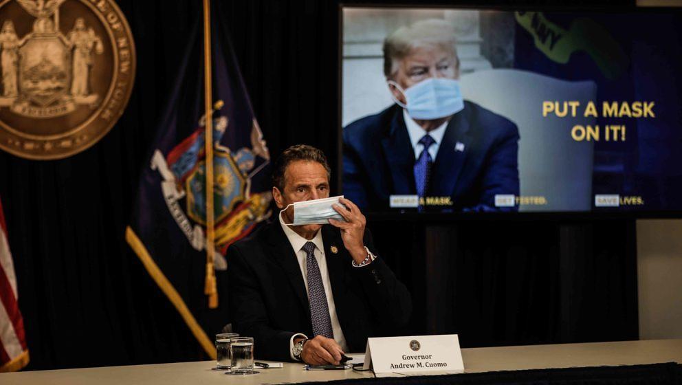 Der Governor von New York, Andrew Cuomo (hier bei einer Pressekonferenz im Juli 2020), will bald wieder Konzert abhalten lassen