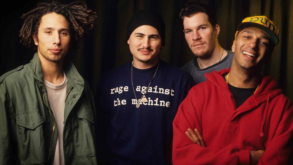 Rage Against The Machine bei einem Foto-Shooting 1993 in Brüssel