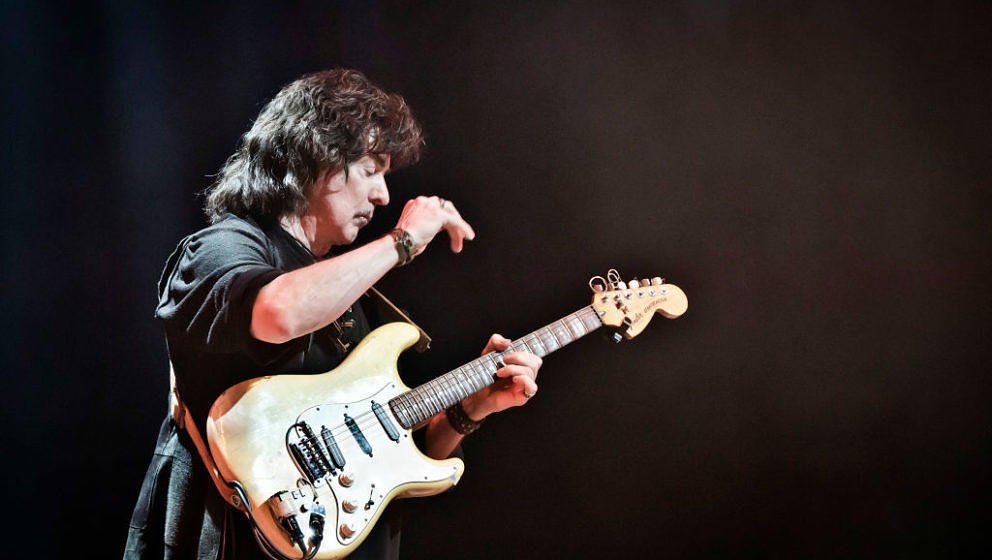BERLIN, GERMANY - APRIL 18: Ritchie Blackmore of the British band Ritchie Blackmore's Rainbow performs live on stage during a