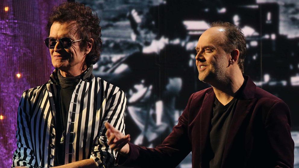 Glenn Hughes (l.) und Lars Ulrich 2016 bei der Einführung von Deep Purple in die Rock And Roll Hall Of Fame