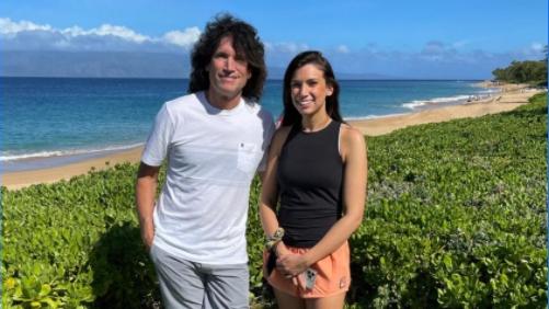 Kiss-Gitarrist Tommy Thayer mit seiner Tochter Sierra Sanchagrin