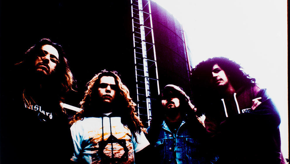 Sepultura, portrait, VPRO, Hilversum, Netherlands, 15th May 1991. (Photo by Niels van Iperen/Getty Images)