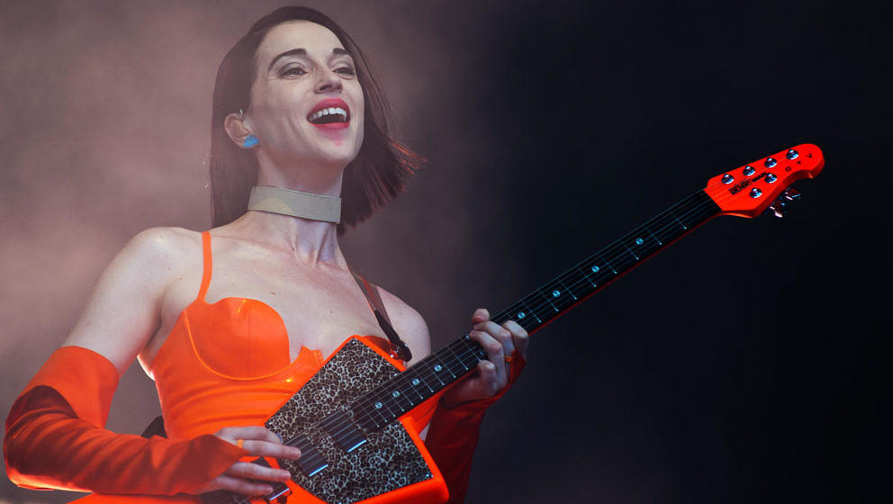 St. Vincent bei ihrer Lollapalooza-Show am 4. August 2018 in Chicago