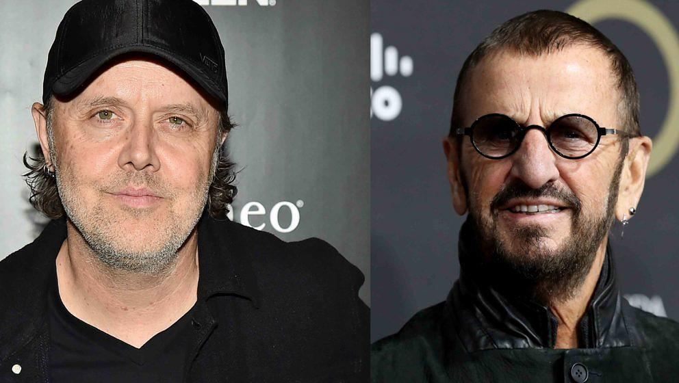 Chris Jericho stellt Lars Ulrich (l.) auf eine Stufe mit Ringo Starr