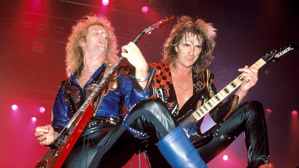 Glenn Tipton and KK Downing, 1986.