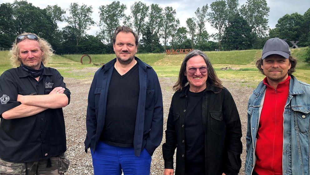 Holger Hübner, Charly Hübner, Thomas Jensen, Produzent Lars Jessen (v.l.n.r.)