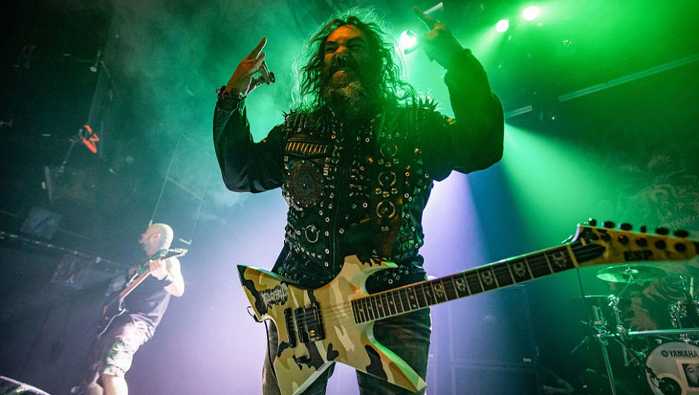 OSLO, NORWAY - NOVEMBER 14: Max Cavalera perform on stage at the Rockefeller Music Hall in Oslo on on November 14, 2019 in Os
