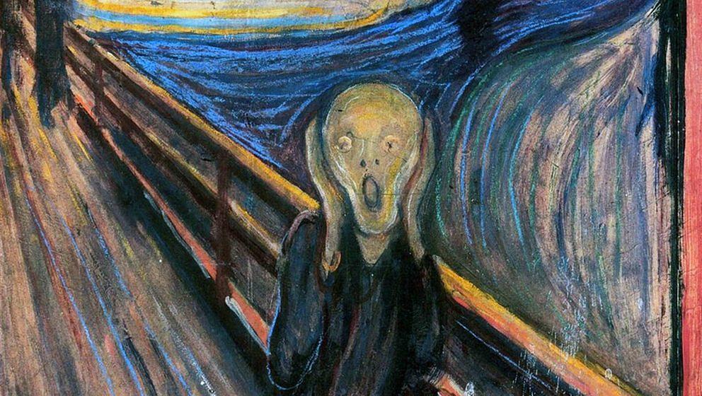 Eine von mehreren Versionen des 'Der Schrei'-Gemäldes des norwegischen Malers Edvard Munch
