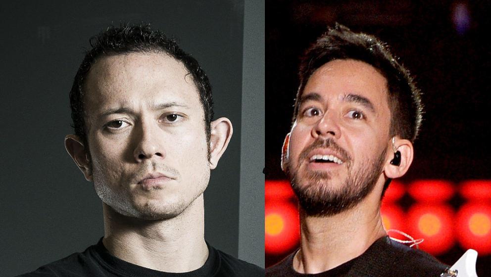 Matt Heafy von Trivium (l.) und Mike Shinoda von Linkin Park haben gemeinsame Sache gemacht