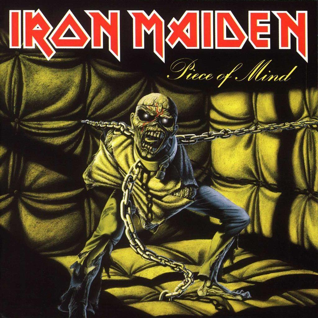 Auf dem Cover des Albums PIECE OF MIND zeigte sich eine deutliche Wesensänderung.
