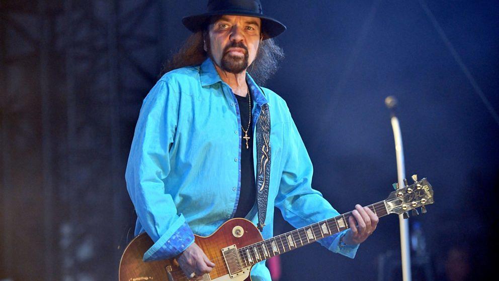 Lynyrd Skynyrd Gitarrist Gary Rossington beim Stagecoach Music Festival am 27. April 2019 im kalifornischen Indio