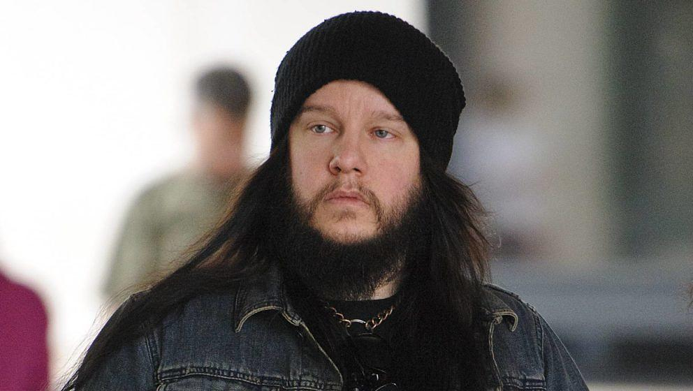 Ex-Slipknot-Schlagzeuger Joey Jordison 2013 in London