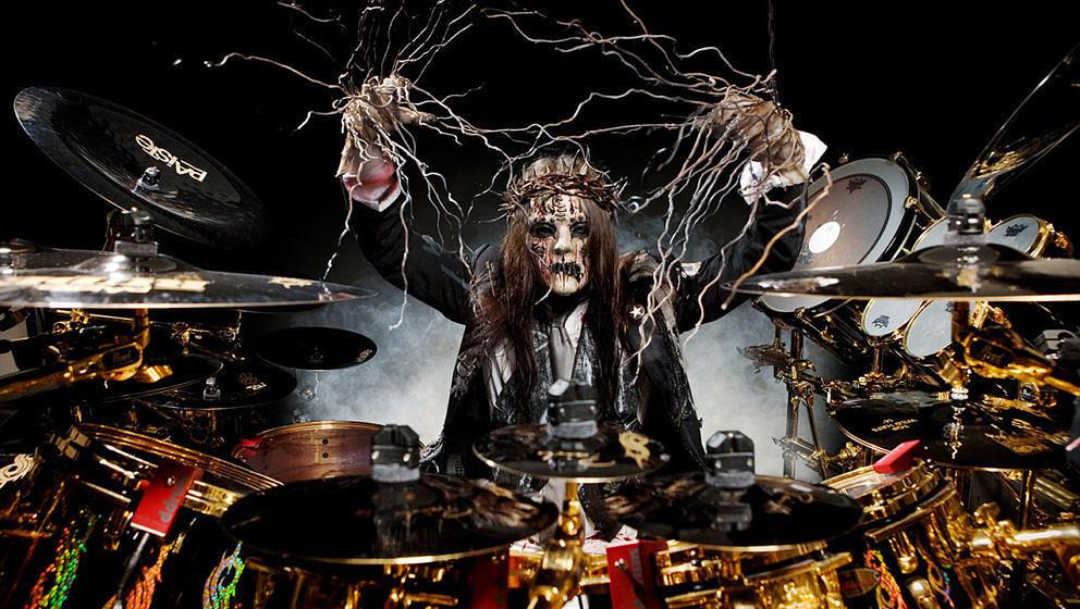 Joey Jordison mit Slipknot, 2008.