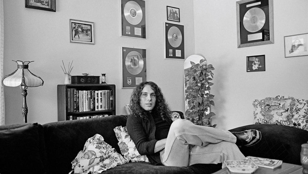 LOS ANGELES - JUNE 01: Ronnie James Dio (1942-2010) lead singer with Rainbow posed at his home in Los Angeles in June 1977. (