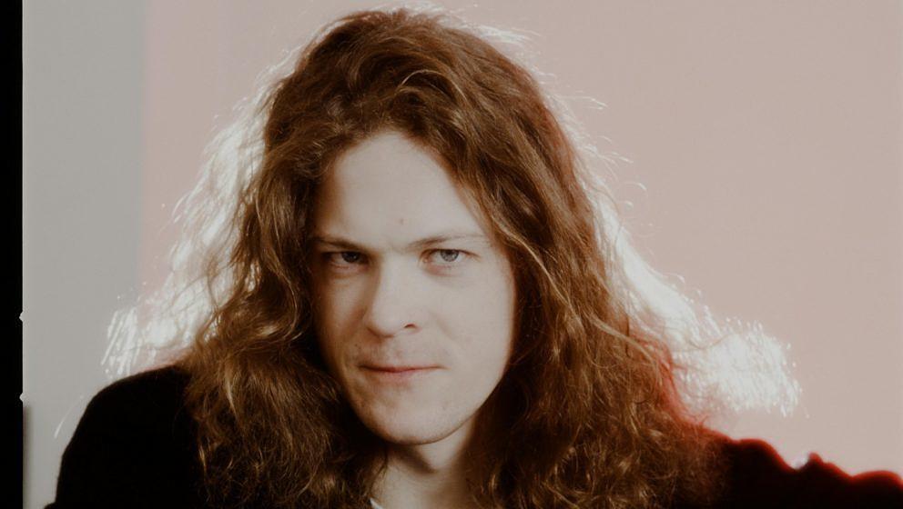 Ex-Metallica-Bassist Jason Newsted bei einer Foto-Session 1991 in Tokio