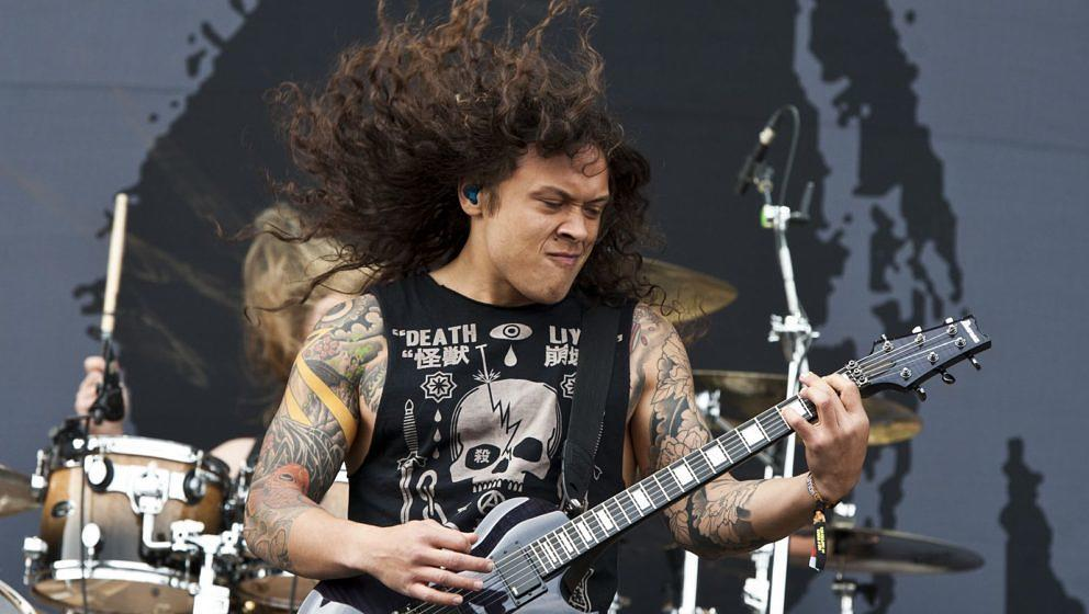 Nick Hipa mit As I Lay Dying beim Download Festival 2012