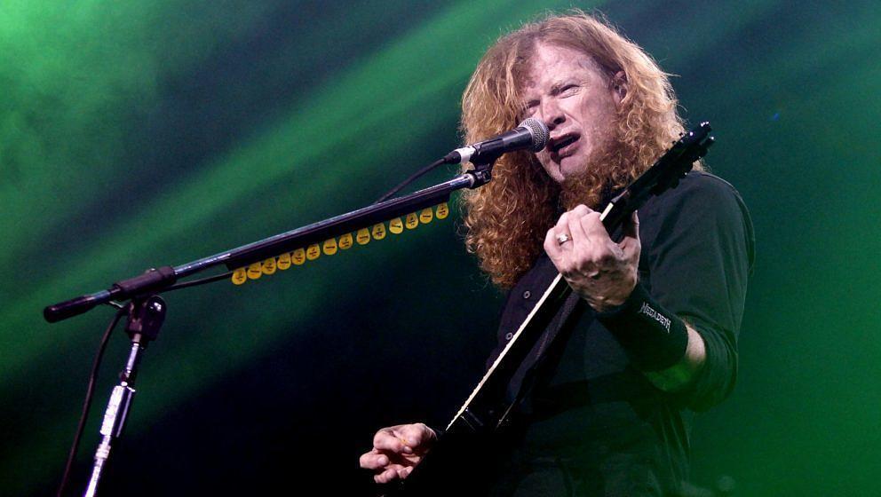 Dave Mustaine beim Megadeth-Auftritt auf dem Stone Free Festival am 16. Juni 2018 in London