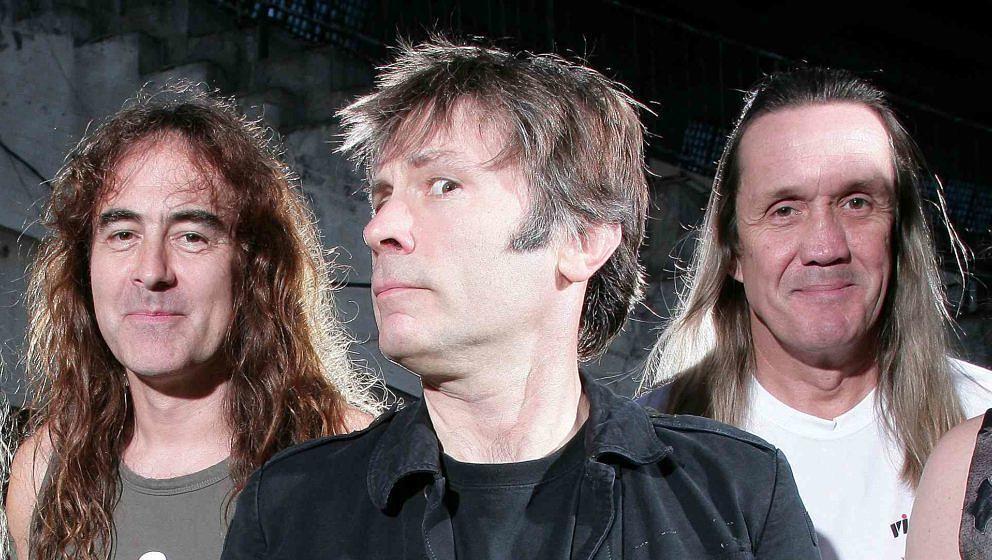 Steve Harris, Bruce Dickinson und Nicko McBrain (v.l.) 2007 in Sofia