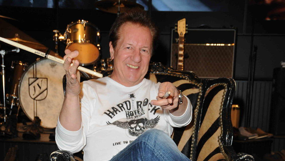 Herman Rarebell 2011 in Las Vegas bei der Vorstellung seiner Autobiografie
