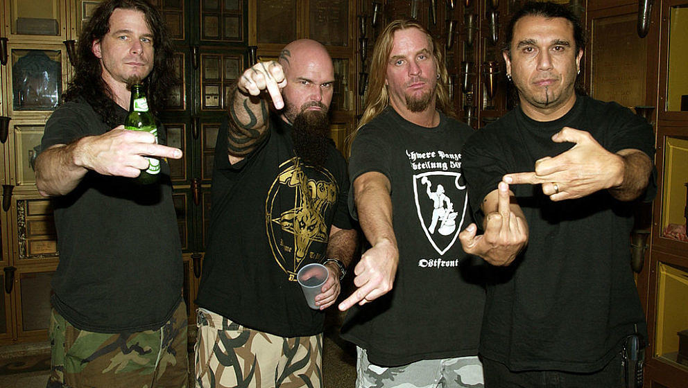 Slayer during Slayer Album Release Party For 'God Hates Us All' at Hollywood Forever Cemetery in Hollywood, California. (Phot