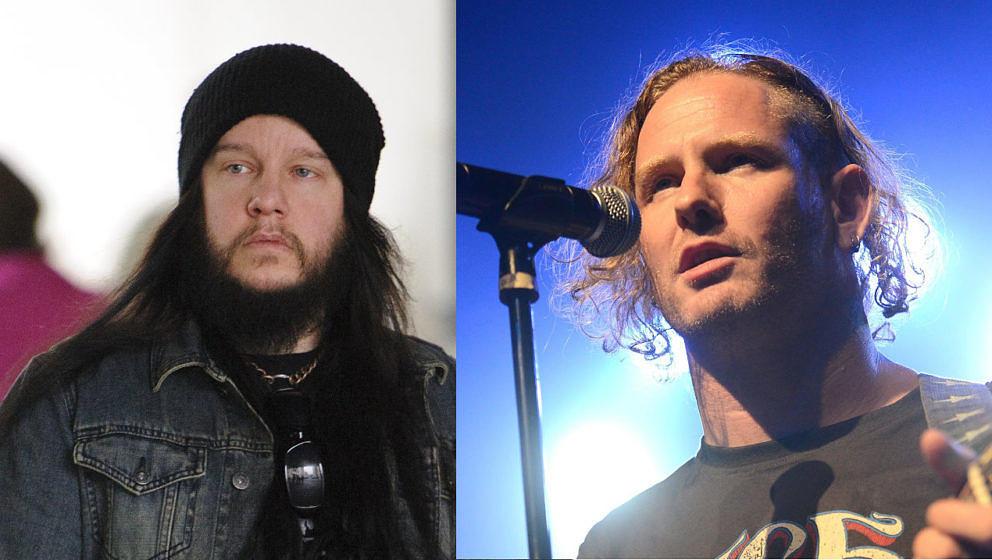 Corey Taylor (r.) kann den Verlust von Joey Jordison immer noch nicht fassen