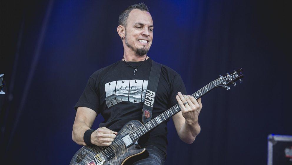 Ex-Creed-Gitarrist Mark Tremonti während einer Show auf dem Wacken Open Air 2018