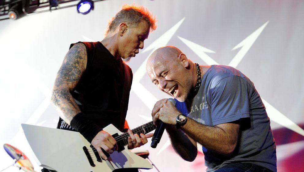James Hetfield (l.) und John Bush 2011 bem 30. Metallica-Geburtstag in San Francisco
